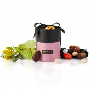 200g mix af fyldte chokoladeæg, dragéæg og ass. marcipanæg i lilla Cocoture palæ gift selection