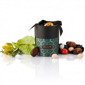 200g mix af fyldte chokoladeæg, dragéæg og ass. marcipanæg i grøn Cocoture Palæ gift selection