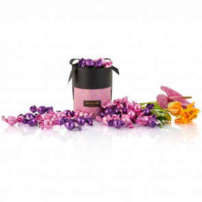 480g mix lilla og lyserød Cocoture chokoladekugler i lilla Cocoture Palæ gift selection
