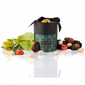 275g mix af fyldte chokoladeæg, ass. marcipanæg og dragé æg i grøn Cocoture Palæ gift selection