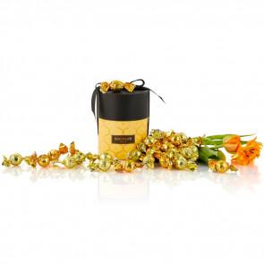 480g mix af guld og solgul Cocoture chokoladekugler i gul Cocoture Palæ gift selection