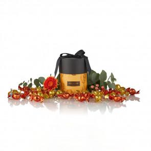 480g. Mix af solgul & orange Cocoture chokolade kugler i gul/kobber cocoture Gift Selection