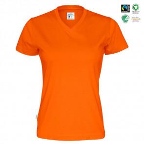 CottoVer - T-shirt V-hals dame